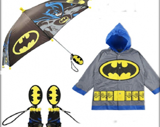 Batman Slicker Umbrella Set