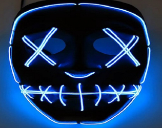 Blue Led Mask