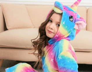 Girls Unicorn Hooded Bathrobe