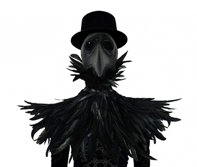 Black Plague Doctor Mask