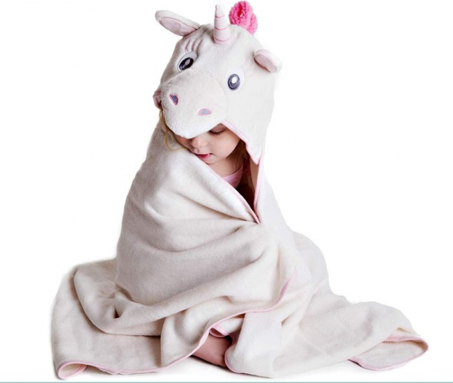 Little Unicorn Hooded Towel