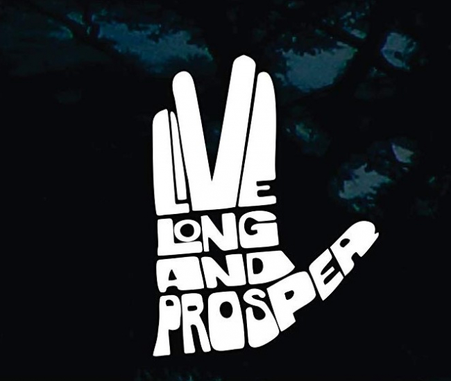 Live Long and Prosper Star Trek Sticker