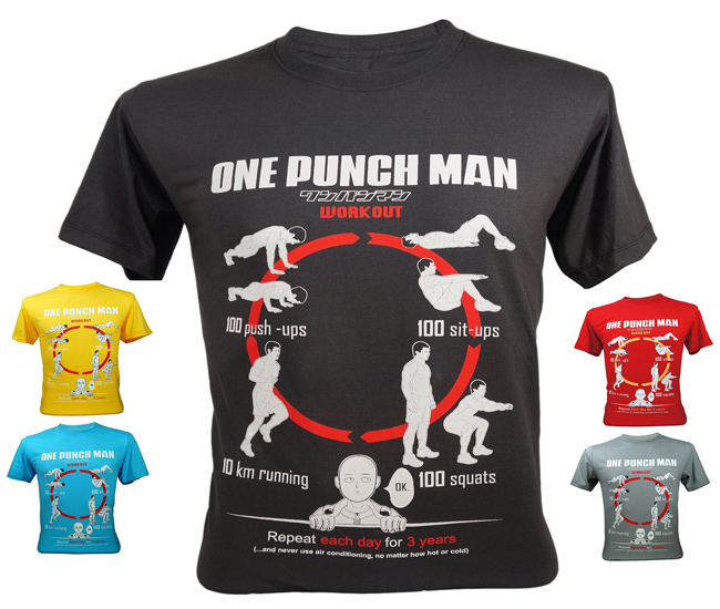 One Punch Man Superhero Workout Shirt